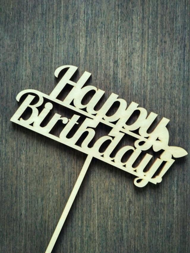Топперы «Happy birthday!» оптом